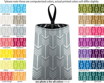 Auto Trash - Arrows - PICK YOUR COLOR - Car Trash Bag Car Accessory Automobile Caddy Trash Bin Garbage Tribal Custom