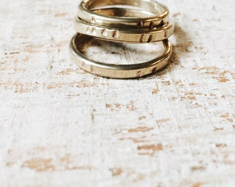 b i r c h l i n e stacking rings - for woodland meditation