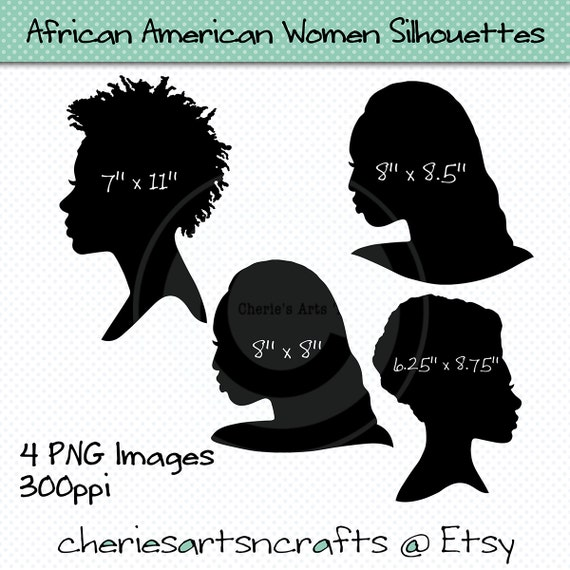 African American Women Silhouettes Americans Of African