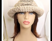 Natural Crochet Hat Womens Hat, Summer Hat for Women, Crochet Wide Brim Hat Women, Natural Hat, MONCHERIE