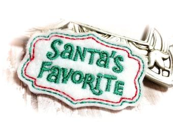 Christmas Dog Bow, Santa's Favorite Dog Bow, Christmas Puppy Bow, Holiday Dog Bow, Holiday Top Knot Bow, Christmas Grooming Bow