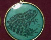 CLEARANCE - Frog Dictionary Pendant (Circle)
