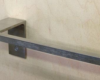 Towel Bar / Towel Rack for Kitchen or Bath Minimal, Modern, Stainless Steel ,Sleek Style