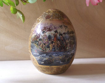 Large Satsuma Porcelain Egg
