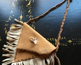 Quartz Roots Crystal Talisman Necklace Pouch