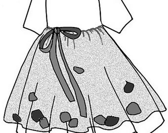 "Pretty Empire Waist Petal Dress 10"" Ann Estelle/Patsy doll clothes pattern PDF 82811"