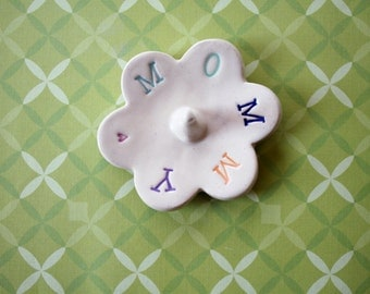 Mom Ring Dish - Personalized Ring Dish - Mommy, Ready to Ship, Gift for Mom