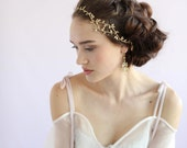 Bridal headpiece - Delicate wavy gilded branch headpiece - Style 664 - Ready to Ship