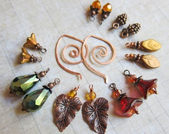 Sihaya Designs Earring Wardrobe -- Autumn Embers -- Autumn Fall Mix and Match Earring Set