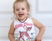 Little Deer, Tank Top, Baby Fawn, Summer Shirt, woodland animal, vintage graphic, Unisex Baby Shirt, Infant Tee, children's top, choose size