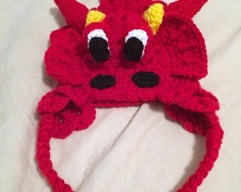 Baby Dragon Hat, Toddler Dragon Hat, Baby Dragon Beanie, Toddler Dragon Beanie - 0-12 months, Toddler - Made-to-Order