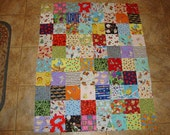 Quilt Top Unfinished, Unquilted Deluxe I Spy Quilt-- Matching Game Pairs!