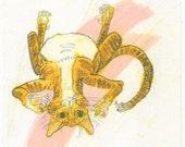 SALE! Sloppy Alley Cat (original drawing, 2016)