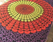 Boho Hippie Tapestry Fabric Colorful Starburst Pattern - Basic Black