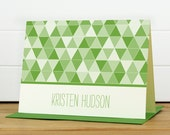 Personalized Stationery Set / Personalized Stationary Set - PRISM Custom Personalized Note Card Set - Modern Geometric Thank You