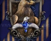 Ravenclaw Crest / Harry Potter Art Print / Hogwarts / House Ravenclaw/ Harry Potter Gift / harry potter Ravenclaw / Nerd Gifts