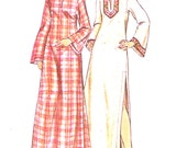 Hooded Boho caftan dress Hippie hipster Beach Wedding casual style vintage sewing pattern Butterick 3079 Bust 40 UNCUT