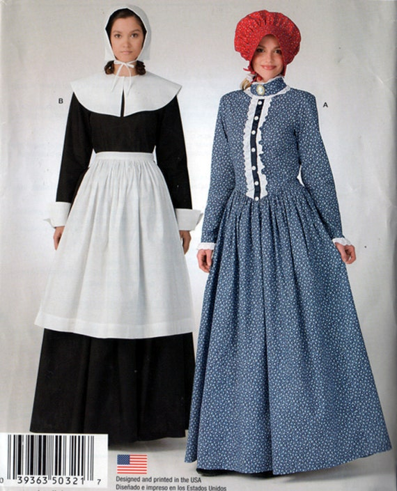So Easy Misses Prairie/Colonial  Dress Costume Pattern Simplicity 321 Size 10-20 UNCUT