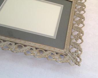 Vintage wedding frame, 10x12 frame, Metal Picture Frame, filigree frame, ornate frame, Gold Photo Frame, wedding table numbers, 8x10 frame