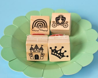 4 pc fairy tale stamp set