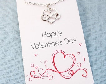 Valentines Gift | Heart Necklace, Valentines Gift for Her, Valentines Day Gift, Layering Necklace, Girlfriend Gift, Bestfriend Gift | L06