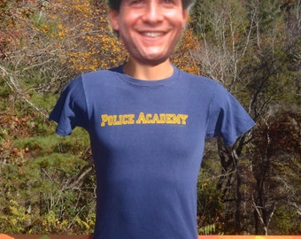 vintage t-shirt 1984 POLICE ACADEMY movie film 80s tee Small xs authentic screen stars