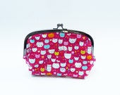 Cosmetic bag, cat fabric, cotton purse