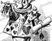 White Rabbit Alice in Wonderland vintage illustration digital download black and white iron on transfer No.0045