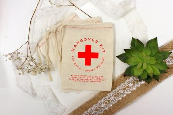 Wedding Favor Bags, Party Favor Bags, Hangover Kit, Bachelor Party ...