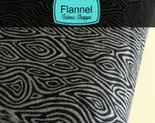 Burly Beavers Fabric, Hipster fabric, FLANNEL fabric, Woodgrain Smoke, Gray fabric, Robert Kaufman- Choose the cut. Free Shipping Available