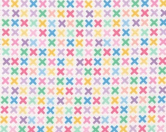 Kiss Fabric, Remix Fabric, Cotton Fabric, Spring fabric, Easter Fabric, Kisses in Sweet- Choose your cut, Free Shipping Available