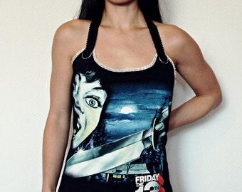 Friday the 13th jason top Horror shirt Halter Top gothic alternative apparel altered tee dark style