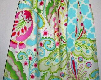 Pillowcase Dress Girls Dress with Flowers Kumari Garden Floral Dress with Damask baby dress toddler dress Summer Dress Sister Dresses