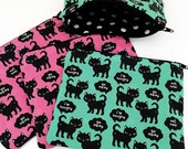 Rude Cats Zipper Pouch - Coin Purse