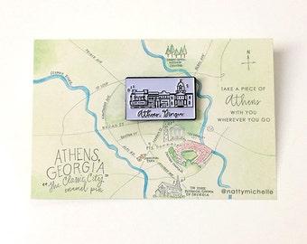 Athens Skyline Enamel Pin