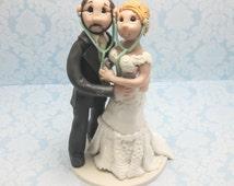 Doctor's Wedding Cake topper, Custom wedding cake topper, personalized cake topper, Bride and groom cake topper, Mr and Mrs cake topper