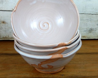 Soup Bowl in Shale with Rust Waves - Made to Order