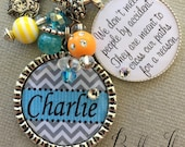 Friend gift, INSPIRATIONAL quote, we don't meet people by chance, PERSONALIZED necklace, religious, thank you gift, charm keychain, cross