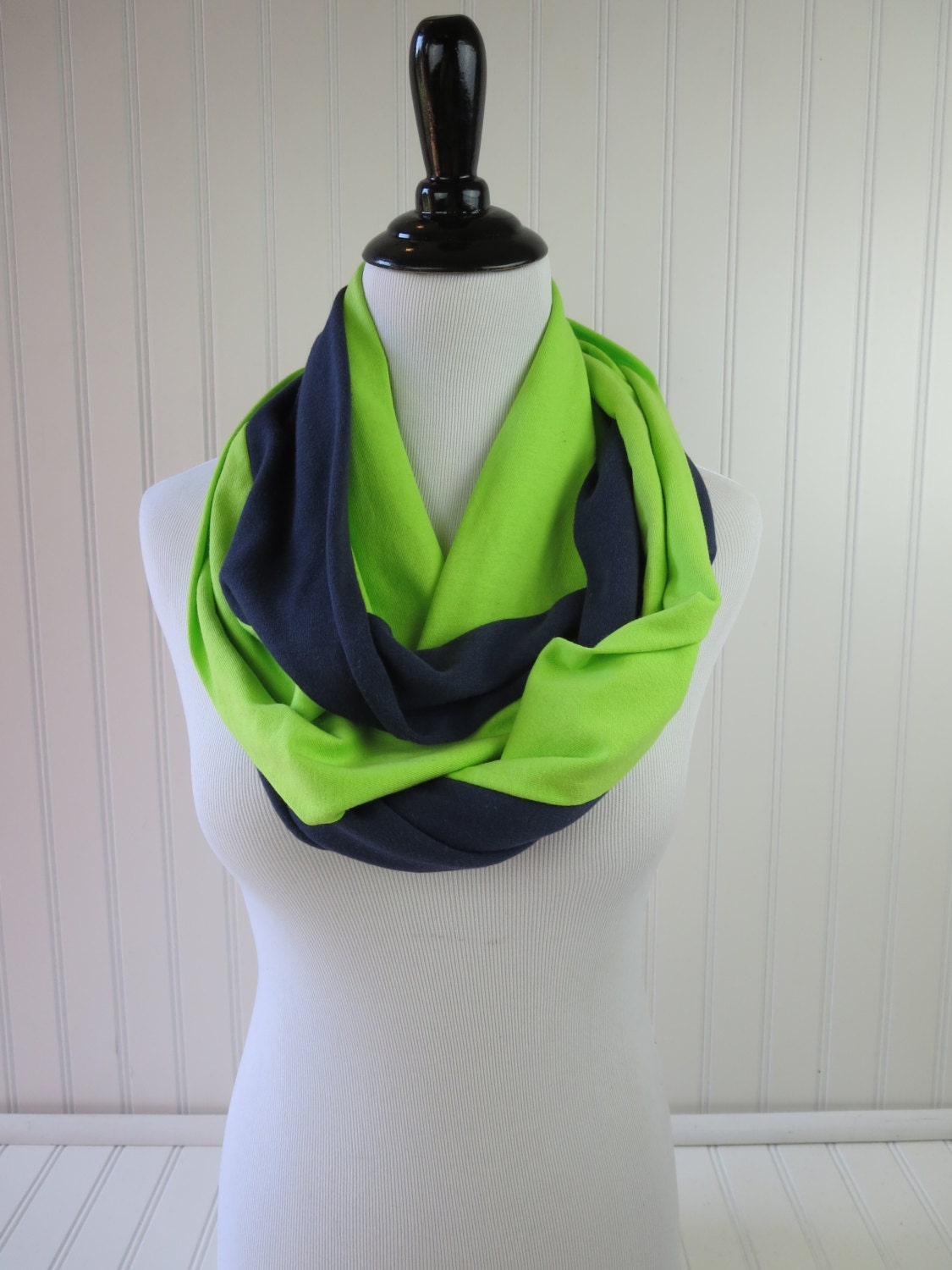 seahawks scarf seattle scarf navy and green infinity scarf