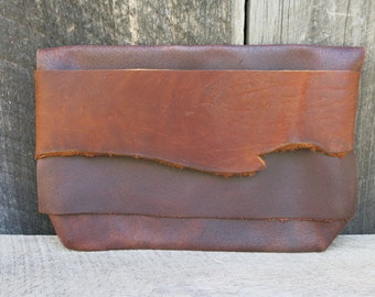 Natural Rustic Light Traveler Eco Leather Clutch