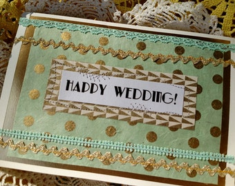 Aqua Vibes Wedding Card
