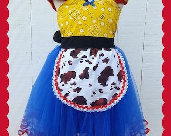 Jessie Toy Story Costume, Jessie dress, Cowgirl dress, Jessie costume, Halloween costume, cowgirl birthday outfit, Toy Story Jessie,