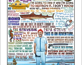 This Is An Adventure- The Life Aquatic tribute signed print