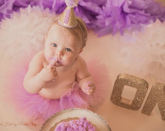 1st Birthday Outfit Girl, 1st Birthday Tutu, First Birthday Outift, First Birthday Tutu Set, Lavender and Gold Cake Smash Outfit, Baby Tutu