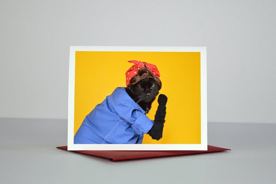 AC the Riveter Greeting Card