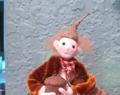 Wingnut Elf posable miniature art doll by moninesfaeries