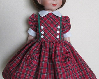 """For 14"""" Betsy McCall - 50s Style Plaid Dress"""