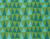 Jane Sassaman Triangle Turquoise fabric 1 yard