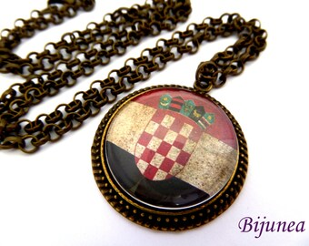 Dominican Republic necklace - Country Dominican Republic necklace - World country Dominican Republic necklace n791