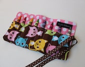 Crayon Holder-Kitty Cat-Stocking Stuffer, Kid Party Gift, Crayon Roll Up